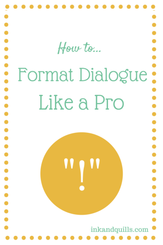 How to format dialogue