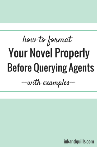 How to format a novel 2